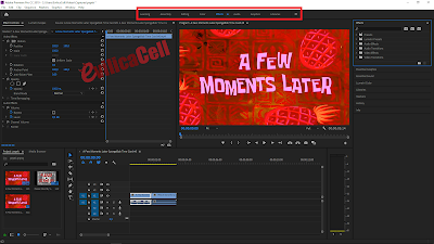 Menu Panel Adobe Premiere Pro CC