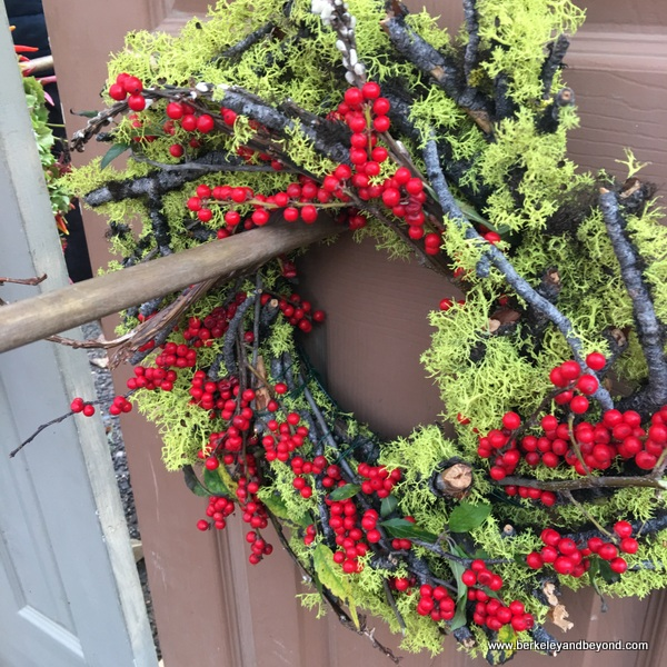 seasonal wreath at Portland Farmers Market in Portland, Oregon