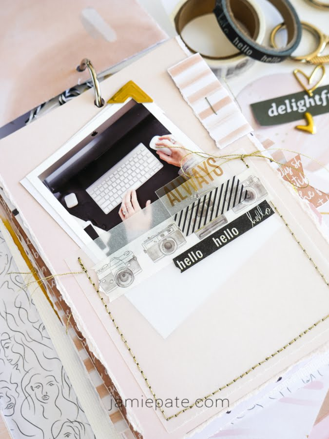 Creating Pieces of Me Mini Album with DCWV Paper Pad by Jamie Pate