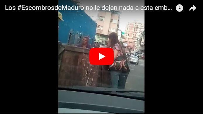 Habitantes desesperados buscan lo que sea para comer en la basura de Caracas