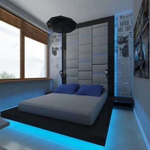 Bet on the modernity of the floating bed with led