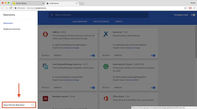 cara buka situs yang diblokir di Chrome Browser PC