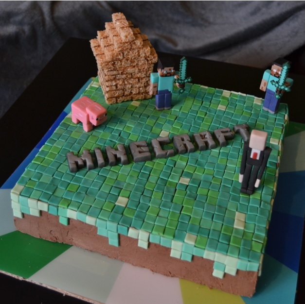 Sweet Dreams And Sweet Living Minecraft Cake
