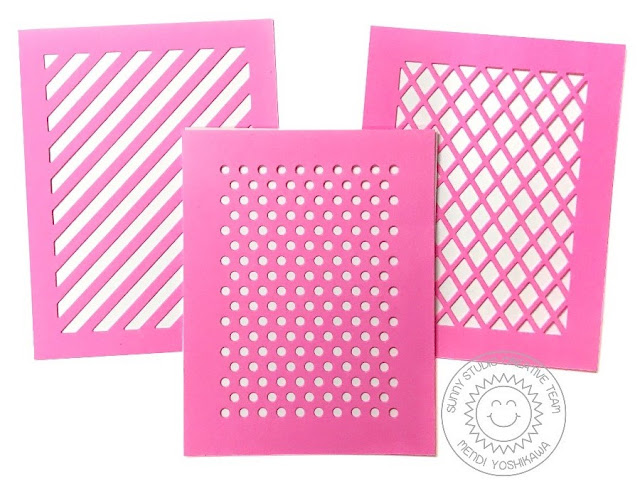 Sunny Studio Stamps & Therm-o-Web Week: Creating Homemade Stencils using Frilly Frames Dies