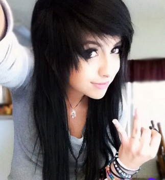 25 BEST EMO HAIRSTYLES FOR GIRLS - LONG BLACK HAIR   Hairstyle ...