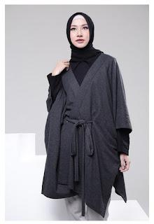 Permalink to Koleksi Baju Muslim Modern Cardigan Model Kimono Terbaru 2017