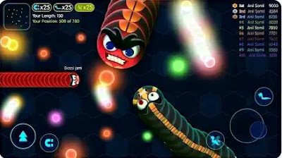 Game Angry Snakes - Slitherio Snake and Worms