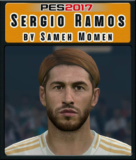 PES 2017 Faces Sergio Ramos by Sameh Momen