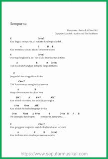 chord lagu sempurna andra and the backbone