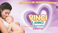 Logo Concorso ''Benvenuto nel mondo Pampers - XII edizione'': vinci 11 carnet di buoni spesa da 745€