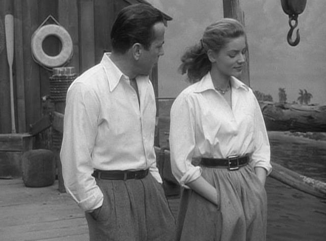 Bogey and Bacall in their white shirts in Key Largo