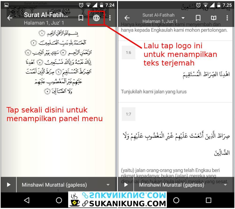Quran For Android, Al-Qur'an Digital Lengkap Untuk Android (Bagian #2 - Terjemah) - www.sukanikung.com