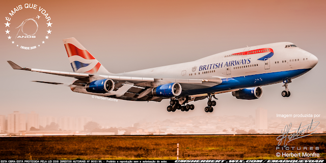 British Airways' last Boeing 747 takes off this morning (8th) from London Heathrow to be retired | Photo © Herbert Monfre - Airplane photographer - Events - Advertising - Essays - Hire the photographer by e-mail cmsherbert@hotmail.com | Image produced by Herbert Pictures - MORE THAN FLY