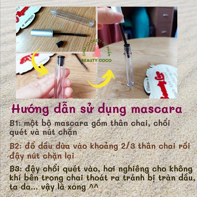 Hướng dẫn sử dụng mascara đựng dầu dừa