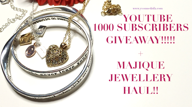 1000 SUBS GIVEAWAY! + MAJIQUE JEWELLERY Haul