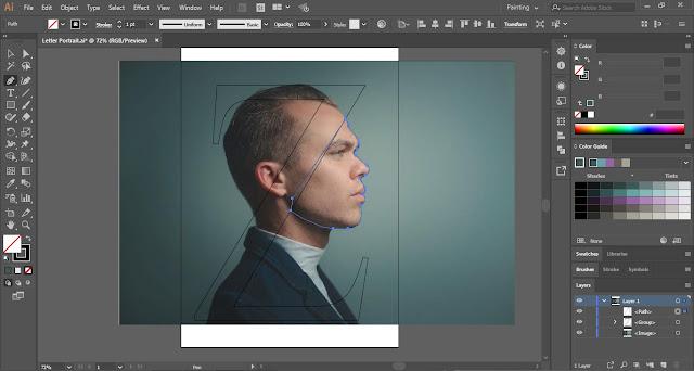 Letter Portrait in Adobe Illustrator