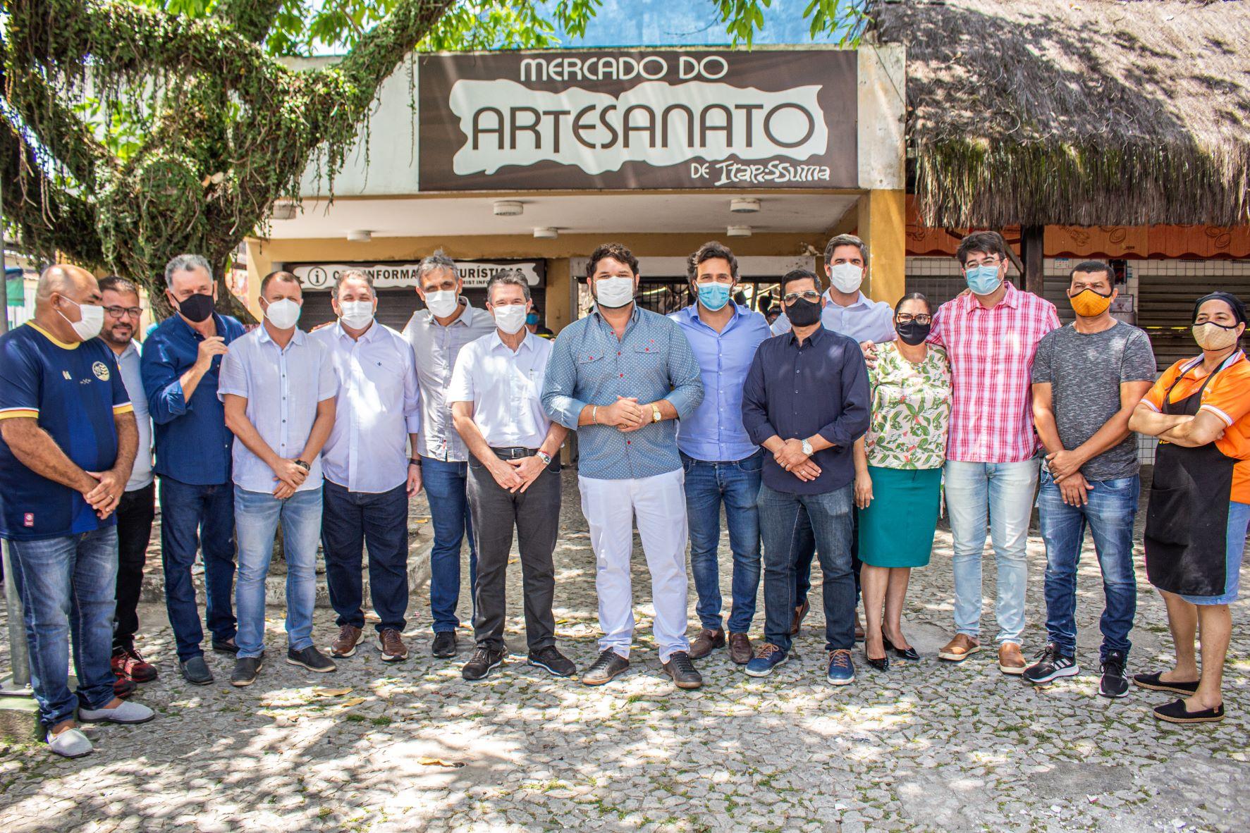 Secretário Rodrigo Novaes visita Itapissuma-PE e discute a reconstrução do Mercado de Artesanato