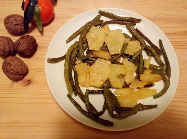 Un gustoso secondo con fagiolini e patate