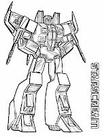 Starscream Transformers Coloring Pages For Kids