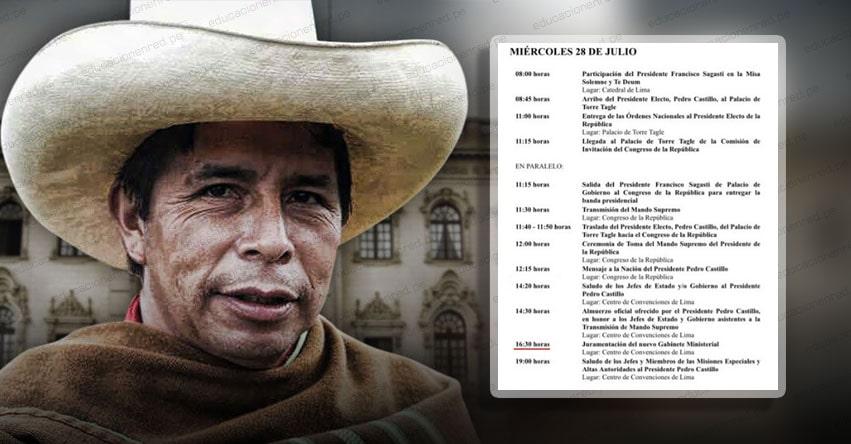 NUEVOS MINISTROS DEL GOBIERNO DE PEDRO CASTILLO: Juramentación del Gabinete se realizará a las 4.30 p.m. del Miércoles 28 de Julio [PROGRAMACIÓN]