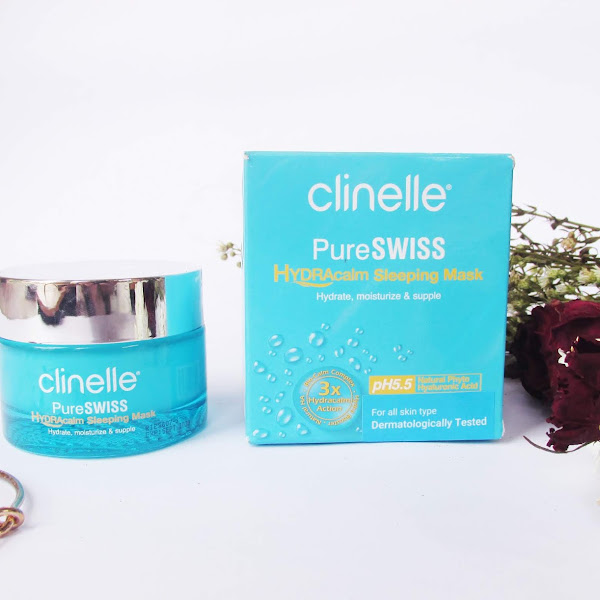 Review Clinelle PureSwiss Hydracalm Sleeping Mask & Clinelle Whiten Up EE Cream