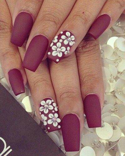 very berry matte berry nails for fall season