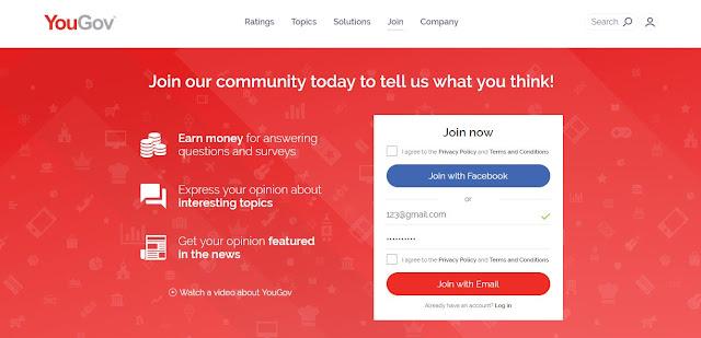 Jawab Survey dan Boleh Dapat Duit Daripada YouGov