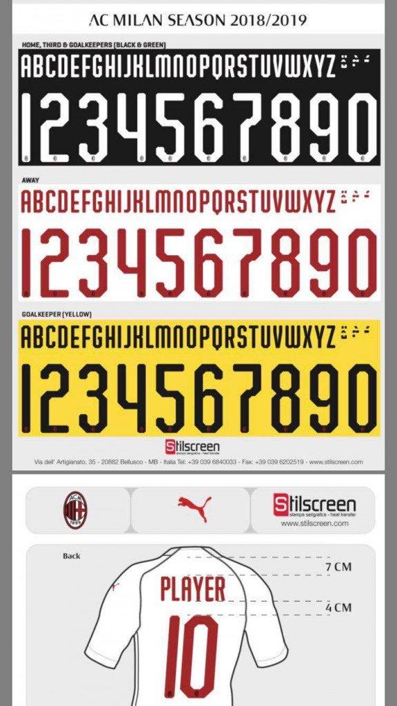 puma ac milan 18 19 kit font revealed footy headlines puma ac milan 18 19 kit font revealed