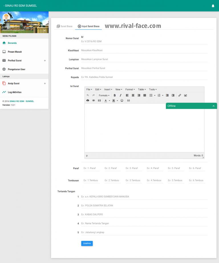 Source Code Gratis Aplikasi Manajemen Arsip Surat Berbasis Web PHP