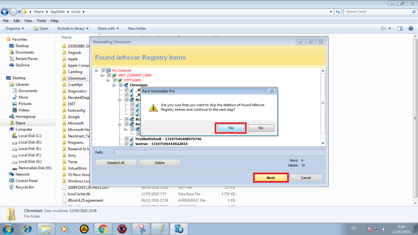 Menghapus Fake Browser Chromium (Virus Removal Guide)