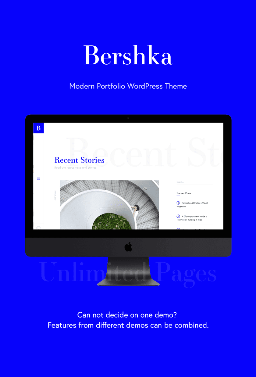 Descargar Bershka template wordpress