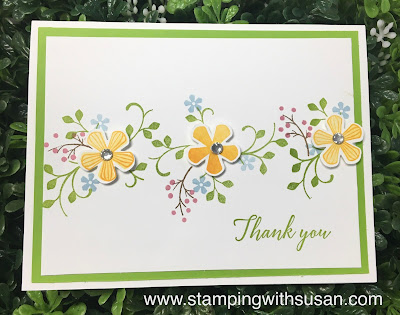 Stampin' Up!, Thoughtful Blooms, 2020 Sale-A-Bration, Small Bloom Punch, www.stampingwithsusan.com,