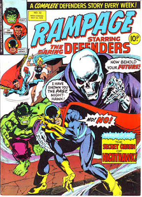 Rampage #32, the Defenders, the origin of Nighthawk
