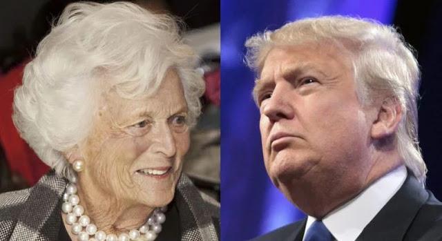 Trump And Barbara Bush