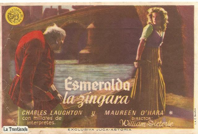 Programa de Cine - Esmeralda La Zíngara - Charles Laughton - Maureen O'Hara