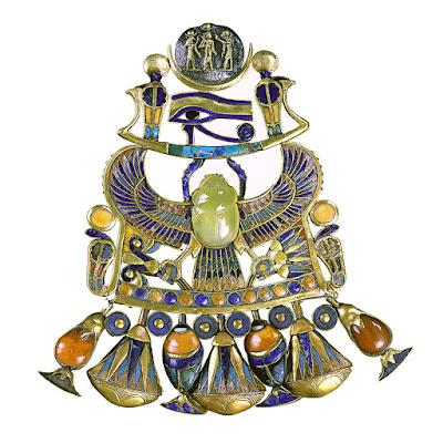 Tutankhamun Winged Scarab Pendant