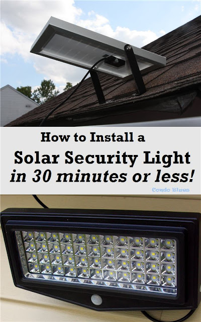 how to install a solar security light in 30 minutes or less