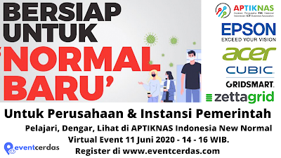 Dokumentasi Kegiatan APTIKNAS INDONESIA NEW NORMAL for ENTERPRISE & GOVERNMENT 11 JUNI 2020
