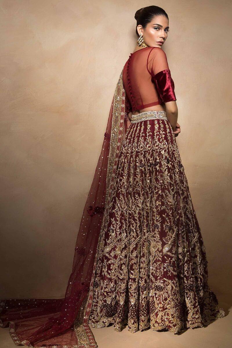 Beautiful lehnga choli bridal wear from Darya collection by Mahgul