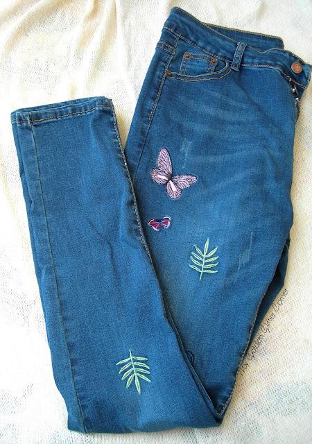 Rosegal-Haul-jeans-skinny-ricamo-farfalle-butterfly