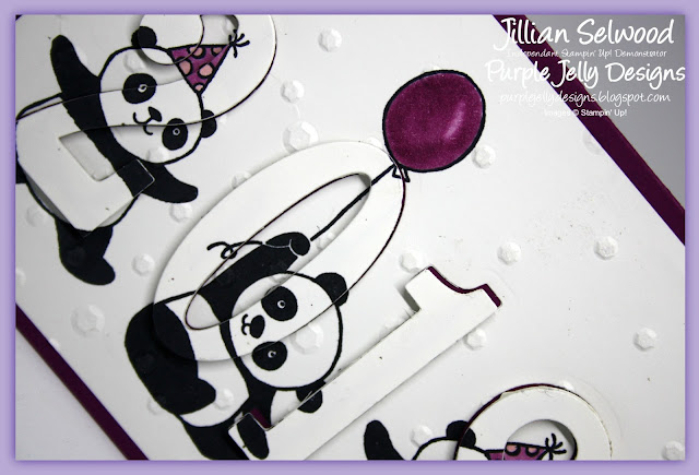 Party Pandas Eclipse card, Rich Razzleberry, Stampin' Blends