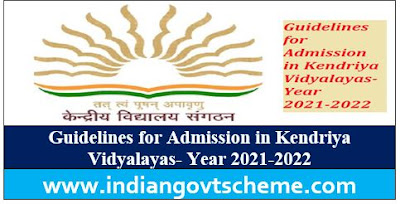 Guidelines for Admission in Kendriya Vidyalayas