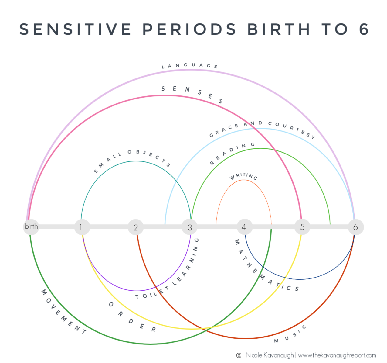 Get started with Montessori with this visual guide to sensitive periods. Sensitive periods are important in choosing activities and parenting choices.