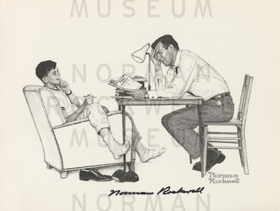 Norman Rockwell, Helping son with homework (1958)