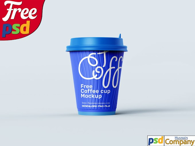 Download Free Paper Coffee Cup PSD Mockup #1