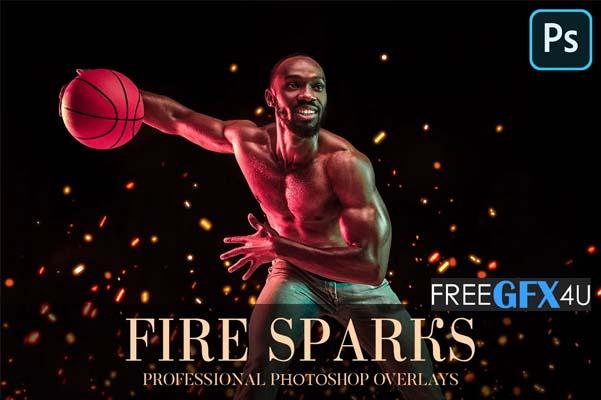 20 Fire Sparks Overlays Photoshop