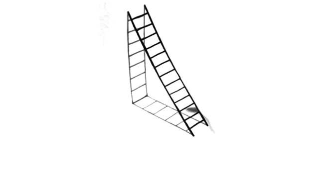dibujos faciles escalera 3d