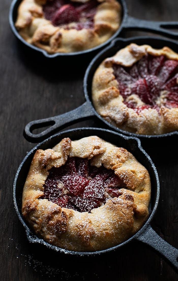recipe for Strawberry galette