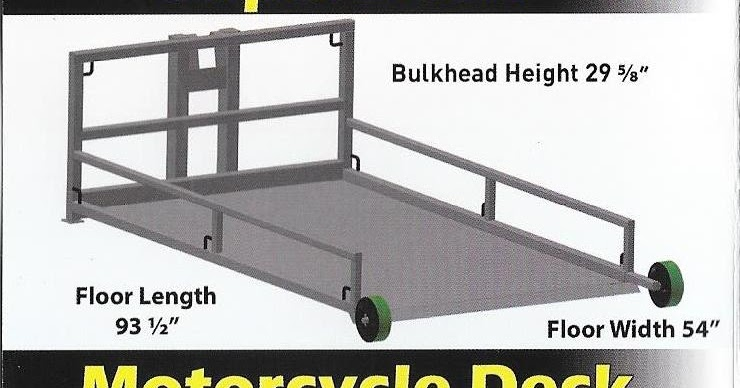 Avg Motorcycle Lift Dimensions : Amerideckmidwest catalog of amerideck products