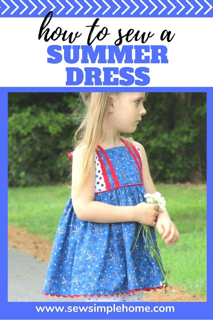 Keep that little one cool all summer long with this free girls sundress pattern for sizes 6 month to 12 years.